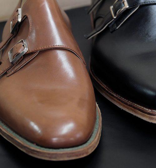 Egy szépen csillogó bőrcipő